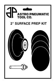 Astro 2SPK Surface Prep Kit 2-Inch, Roll Lock Holder with 4 Pads. ()