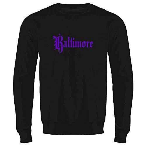 (Baltimore Maryland Retro Vintage Travel Black 2XL Mens Fleece Crew Sweatshirt)