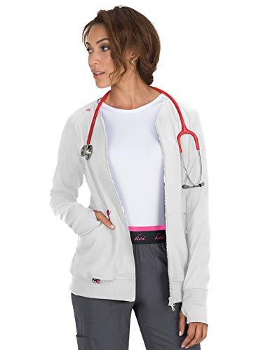 KOI lite 445 Women's Clarity Scrub Jacket White 2XL
