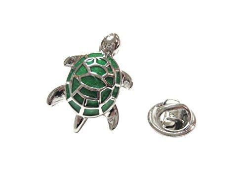 Turtle Pin - Kiola Designs Metallic Green Turtle Tortoise Lapel Pin