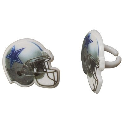 24 Dallas Cowboys Football Helmet Cupcake Rings by DecoPac