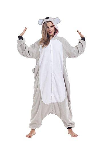 Onsie One Piece (Ifboxs Ifoxs Adult Animal Pajamas - Koala One Piece Plush Cosplay Onsies Sleepwear)