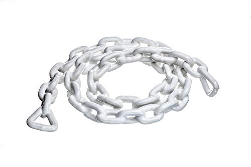 attwood 13764-4 White 5/16-Inch x 5-Feet PVC Coated Boat Anchor Chain 13764-4-5 Long 5/16 Inch Diameter