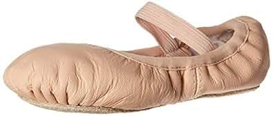 BLOCH Dance Girl's Belle Full-Sole Leather Ballet Slipper/Shoe, Pink, 1 C US Little Kid