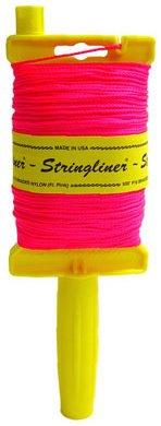 Stringliner 11762 Original Stringliner Holder with 500' Braided Fluorescent Pink #18 Construction Line by Stringliner