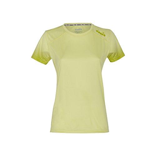 Diadora - Camiseta de Running L.X-RUN SS T-SHIRT para mujer 70321 - SOLAR VERDE