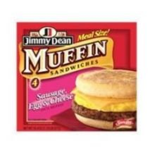 - Jimmy Dean D lights Turkey Sausage, Egg White and Cheese Breakfast Sandwich Muffin, 5.1 Ounce - 12 per case.