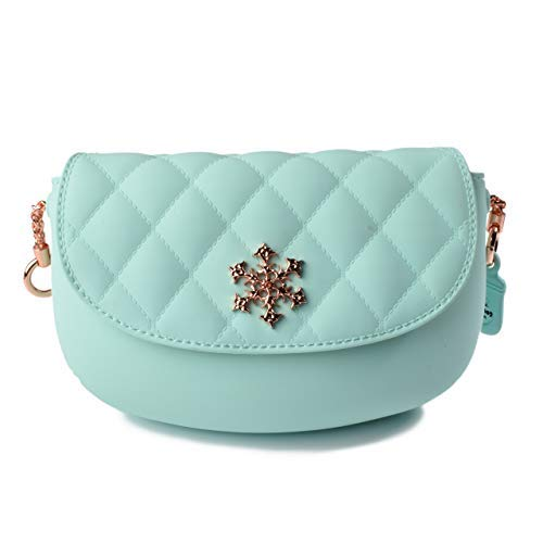 (Pudinbag Cross-body Clutch Purse for Women | Silicone | Small | Quilted | Leather Flap Lining)