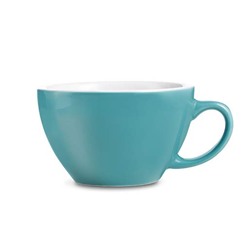 LOVERAMICS Egg Style Cafe Latte Cup and Saucer, 300ml (10 oz) (Teal, -