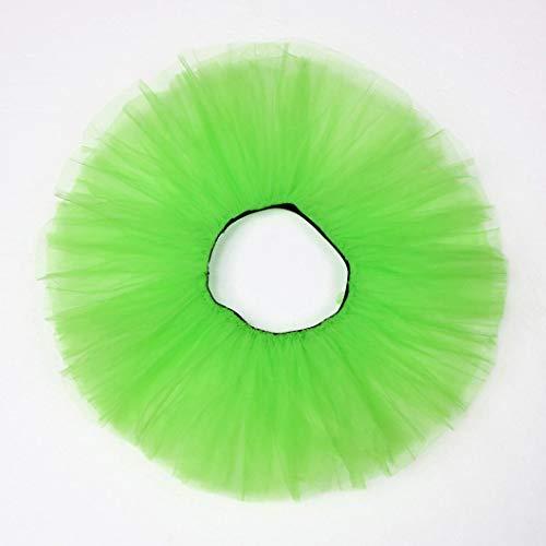 Sixcup Tutu Femme Ballet en Tulle Jupe Courte Mini Pettiskirt D'lastique Mini Multicouche Vert
