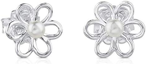 TOUS Maggie - Pendientes en plata de primera ley y perlas cultivadas de 0,35 cm