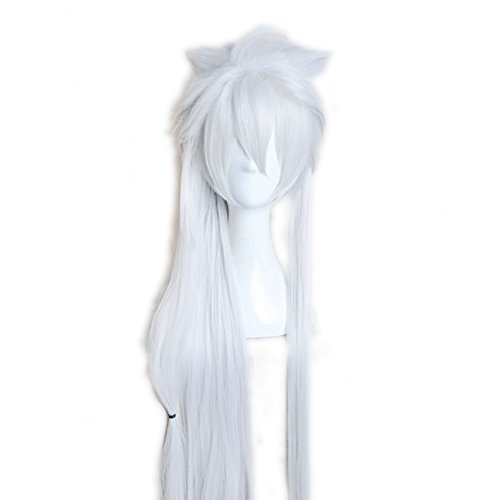 Toptheway-Long-Straight-White-Costume-Anime-Cosplay-Synthetic-Unisex-Wig