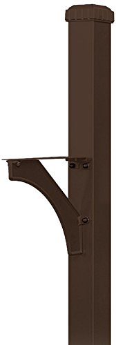Salsbury Industries 4835BRZ Designer In-Ground Mounted Decorative Mailbox Post, Bronze