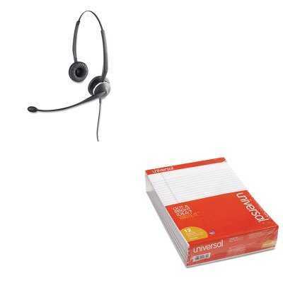 KITJBR010247UNV20630 - Value Kit - Jabra GN2120 Flex Binaural Over-the-Head Telephone Headset w/Noise Canceling Mic (JBR010247) and Universal Perforated Edge Writing Pad (UNV20630) by Jabra