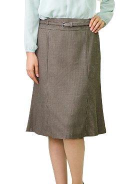 AddRouge(アッドルージュ)ベルト付千鳥柄6枚ハギマーメイドスカート[b1865-822520]