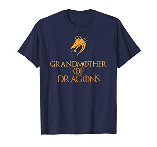 Grandmother Of Dragons T-Shirt Cool Funny Grandma Gift Tee -
