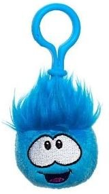 """Disney Club Penguin 2"""" BLUE Puffle Clip - Back Pack Clip On - Key Chain - VALUE DEAL = Just the Puffle w/o Coin"""