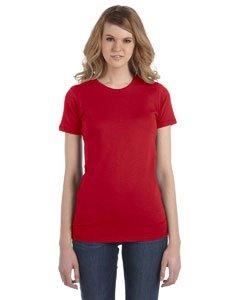 Alternative Women's Basic Short Sleeve Crew Neck Tee, Apple Red, Small