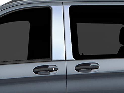 PP14086 QAA fits 2014-2020 Mercedes S Class 6 Piece Stainless Pillar Post Trim