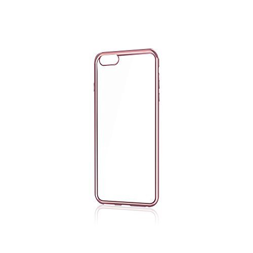 Merope Phone Case Hybrid Crystal Clear with PU Bumper for iPhone 6/6s (Rose Gold)