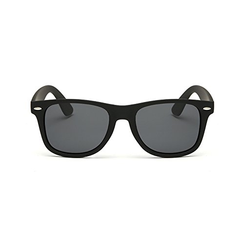 Rétro Noir Protection Cadre Lunette Homme et Polarisées Wayfarer Soleil Miroir Femme Noir Modèle Vintage reg; de Verres Forepin UV400 OzSZC6O