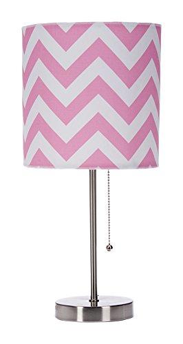 Sweet Potato Swizzle Pink Mod lamp /& Pink Chevron Shade