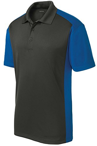 Joe's USA Mens Moisture Wicking Micropique Golf Polo Shirt-Royal-3XL