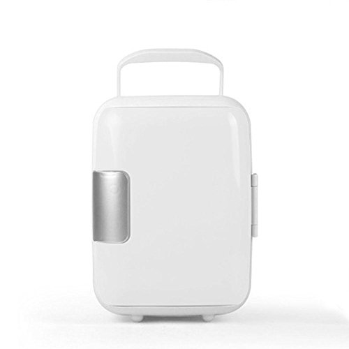 Price comparison product image WXLAA 4L Portable MINI Car Fridge Multi-Function Travel Fridge Cooler Warmer Dual-Mode White