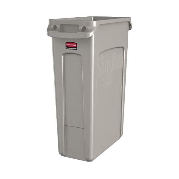 Rubbermaid-FG354060BEIG-Contenitore-di-Rifiuti-con-Condotti-di-Ventilazione-Plastica-87-L-Beige