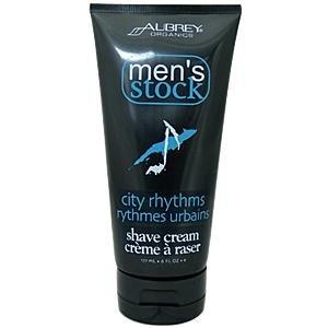 Men's City Rhythms Shave Cream - 6 oz - Cream (Organics Aubrey Eucalyptus)