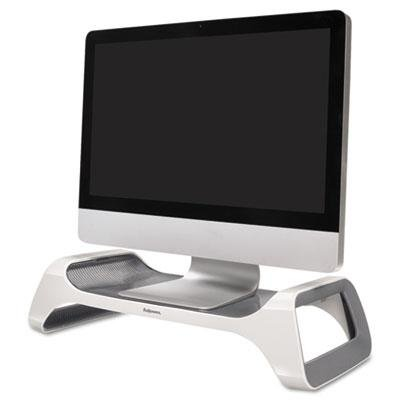 picture of Fellowes Monitor Riser, 8.8 X 20 X 4.8, White/Gray, Case of 2