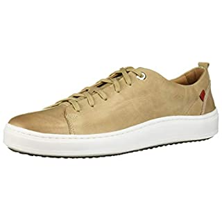Marc Joseph New York Mens Genuine leather Made in Brazil Union Square Sneaker, Taupe Washed Nappa, 8.5 M US
