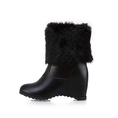 Bottes Femme Franges Noir Solide Mode En Abl10857 Balamasa Pour Uréthane À Twq5nO18O