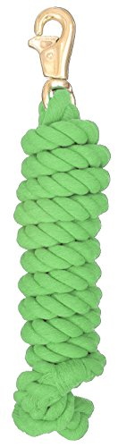 Tough 1 Braided Cotton Lead with Trigger Bull Snap, Neon Green, 8 1/2'
