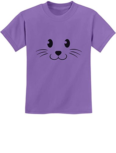 [TeeStars - Cute Face Halloween Easy Costume Youth Kids T-Shirt X-Large Violet] (Easy Cute Teenage Halloween Costumes)