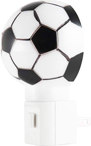 Lights by Night Plug-in LED Night Light, Soccer Ball, Fútbol, Energy Efficient, Manual On/Off, Sports Décor, Ideal for Living, Bedroom, Kid