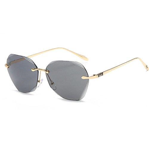 Aoligei Lunettes de soleil dames tendance européenne couleur lunettes de soleil femmes film fashion des lunettes anti-UV bwwNup