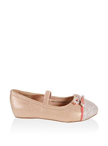 Ballerinas für Mädchen URBAN 220802-B4600 SILVER-CORAL