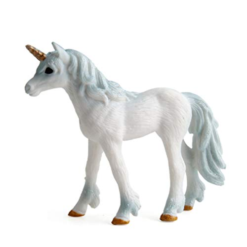 DierCosy Unicorn Figurines Unicorn Sculpture Model Toy Birthday Gift for Kids Toddlers Children Hand Painting Animal Figurines 1Pc