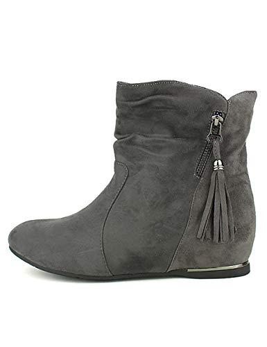 Cendriyon Grises Quenn Viivi Gris Bottines Compensées Chaussures Femme RvryUTgRF8