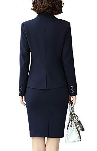 Para Chaqueta Susielady Traje Marino Azul Mujer De qt4t7