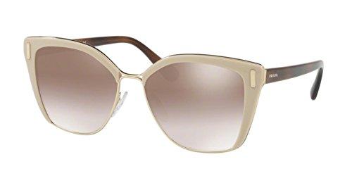 (Prada Women's 0PR 56TS Light Brown/Gradient Brown Silver Mirror Sunglasses)