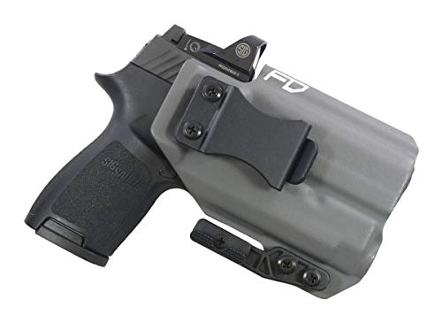 Fierce Defender IWB Kydex Holster Sig P320c RX w/APLc The Paladin Series -Made in USA- (Gunmetal Grey)