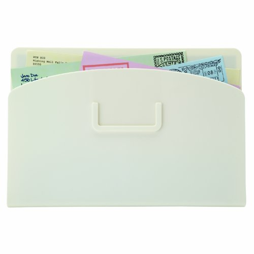 Organizer Magnetic Pocket - Quartet Magnetic Mail Organizer Storage Pocket, 10.25 x 7 Inches, White (48123W)