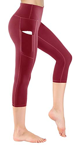 HOFI Women's High Waist Capri Yoga Pants with Side Pockets & Inner Pocket