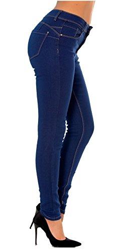Droit Jean Bootcut Denim 34 44 Simply bleu Slim du Pantalon Skinny Femme au Chic Skinny XIwqq5p