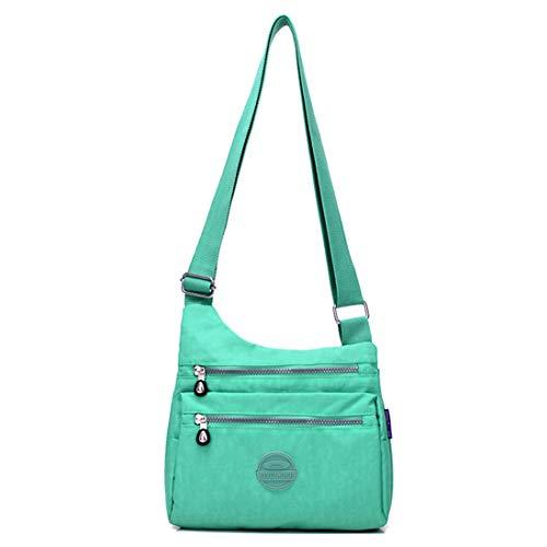 Lightweight Nylon Messenger Zip Bag Big Bag Green with body Shoulder Cross Mango Women's Waterproof Casual Bag 7Px6AvtP