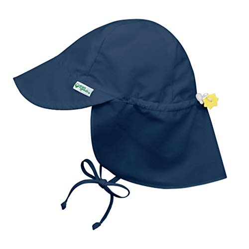 i play. by green sprouts Baby & Toddler Flap Sun Protection Hat | All-day UPF 50+ sun protection for head, neck, & eyes