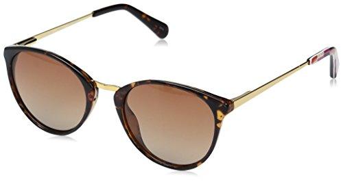 Vera Bradley Women's Avery Polarized Round Sunglasses, Bohemian Chevron, 47 mm