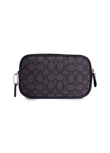 Black Smoke Signature Sv COACH Womens Black Clutch Crossbody Zzaqz